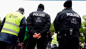 German police said they were evacuating a building in the eastern city of Chemnitz