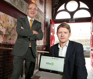 Des Gartland from Invest NI with Brendan McNabb of Lithe IT