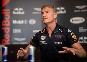 13-time Grand Prix winner David Coulthard at a press conference ahead of the Red Bull F1 Belfast Showrun Mandatory Credit ©INPHO/Morgan Treacy