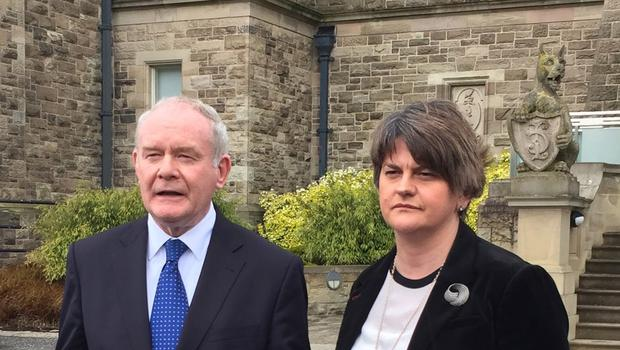 Martin McGuinness and Arlene Foster (PA)