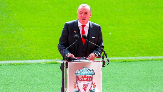 LIVERPOOL, ENGLAND - SEPTEMBER 09: Liverpool's CEO Ian Ayre during the opening of  the new stand and facilities  at Anfield on September 9, 2016 in Liverpool, England. (Photo by Barrington Coombs/Getty Images)