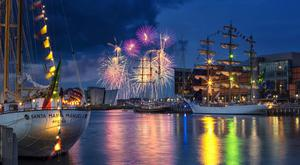 Going out with a bang: Spectacular fireworks on the final night of the Belfast Tall Ships 2015 at Belfast. Pic: McAuley Multimedia.