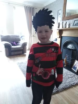 Alfie Crothers (6) from Downpatrick as Dennis the Menace