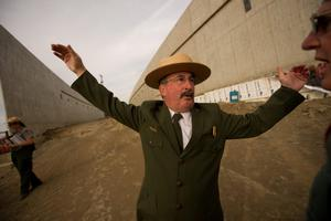 SHANKSVILLE, PA- SEPTEMBER 10:  Keith Newlin, deputy superintendent of the Flight 93 National Memorial Visitor Center Complex conducts a media tour of the construction site at the complex on the eve of the 13th anniversary of the 9/11 attacks September 10, 2014, in Shanksville, Pennsylvania. The complex includes a visitor center, Flight Path Walkway and learning center.  (Photo by Jeff Swensen/Getty Images)