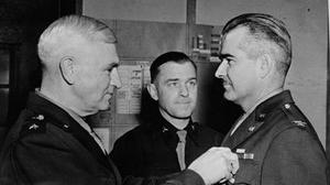 Colonel Benjamin Talley is awarded the Distinguished Service Cross
