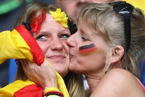 The beautiful game - football fans from around the world.  Germany fans enjoy the atmosphere prior to the UEFA EURO 2016 Group C match between Germany and Ukraine at Stade Pierre-Mauroy on June 12, 2016 in Lille, France. (Photo by Alexander Hassenstein/Getty Images)