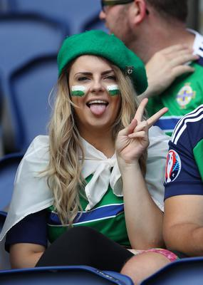 Press Eye - Belfast -  Northern Ireland - 25th June 2016 - Photo by William Cherry  Northern Ireland's fans at todays game against Wales in the last 16 of the Euro 2016 tournament at the Parc des Princes, Paris.