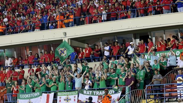 Press Eye - Belfast -  Northern Ireland - 29th May 2018 - Photo by William Cherry/Presseye  Northern Ireland fans during Wednesday nights International Friendly against Panama at the Estadio Rommel Fernandez, Panama City.