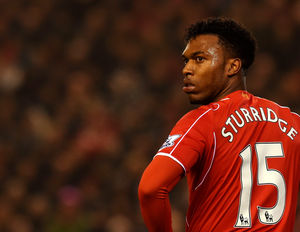 Liverpool's English striker Daniel Sturridge plays during the English Premier League football match between Liverpool and Tottenham Hotspur at the Anfield stadium in Liverpool, northwest England, on February 10, 2015.