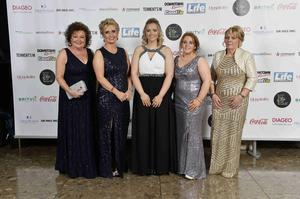Press Eye - 12th November 2014 2014 Pubs awards at the Lamon Hotel. Carol Johnston Suzanne McIlhatton,Alana Daly, Leona Daly and Marion Daly Picture by Stephen Hamilton / Press Eye.