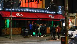 Revelers at Filthy McNastys on the Dublin as Cafes, pubs and restaurants have closed from Friday night - except for take-away food - to tackle coronavirus. Picture Sunday Life 20-03-2020