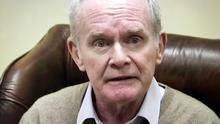 Martin McGuinness faces the media yesterday