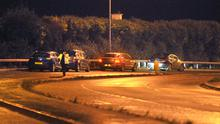 Alan Lewis- PhotopressBelfast.co.uk        4-1-2016 The A2 Bangor to Belfast Road remains closed tonight following a serious two car collision at the 'Devil's Elbow', a notorious accident blackspot. A woman has been taken to hospital in a serious condition following the crash that happened around 2.00pm. Aas of 6.00pm the road ws still closed in both directions causing rush hour chaos for traffic leaving Belfast.