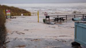 Portstewart Strand suffers damage in the storm. Pic Twitter/@PStrandNT