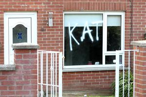 General view of a house in north Belfast after a home and vehicle in the Kilcoole area was targeted by sectarian thugs. Photo by Press Eye.
