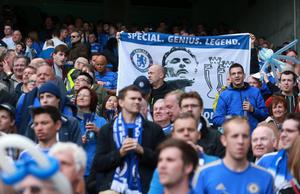 LONDON, ENGLAND - MAY 19:  Chelsea fans show their support for former manager Jose Mourinho during the Barclays Premier League match between Chelsea and Everton at Stamford Bridge on May 19, 2013 in London, England.  (Photo by Scott Heavey/Getty Images)