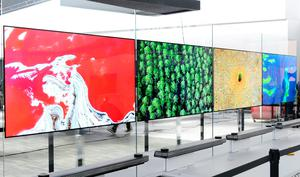 """Undated handout photo issued by LG of their new flagship TVs, the Signature OLED W, which is only 2.57mm thick and must be mounted to the wall with magnetic brackets, which was unveiled during the CES Consumer Technology Show 2017. PRESS ASSOCIATION Photo. Issue date: Wednesday January 4, 2017. LG says the result is the impression the TV is either levitating or is built into the wall like a window, which it said partly inspired the """"W"""" name. See PA story TECHNOLOGY LG. Photo credit should read: LG/PA Wire  NOTE TO EDITORS: This handout photo may only be used in for editorial reporting purposes for the contemporaneous illustration of events, things or the people in the image or facts mentioned in the caption. Reuse of the picture may require further permission from the copyright holder."""