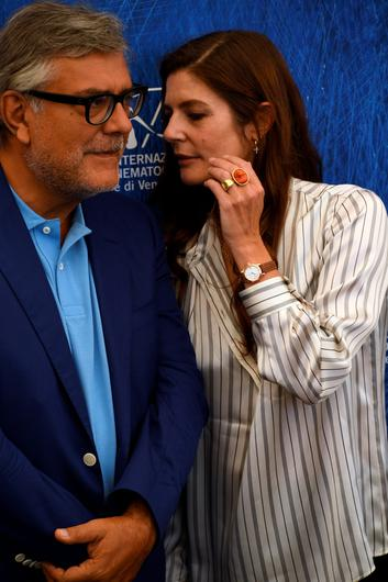 VENICE, ITALY - AUGUST 31:  'Venezia 73' jury members Giancarlo De Cataldo (L) and Chiara Mastroianni wearing a Jaeger-LeCoultre watch attend the '' photocall during the 73rd Venice Film Festival at the Palazzo del Casino on August 31, 2016 in Venice, Italy.  (Photo by Ian Gavan/Getty Images)