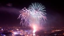 Fireworks over the Foyle