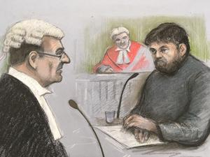 Court artist sketch of Carl Beech at Newcastle Crown Court (Elizabeth Cook/PA)