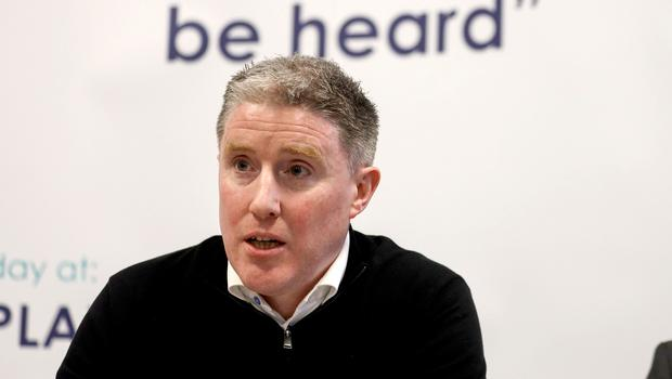 Taking a stand: CPA Chairman Micheal Briody addresses a press conference yesterday