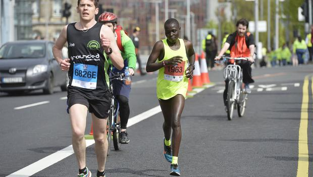 7th May 2018 37th Deep RiverRock Belfast City Marathon  Caroline Jepchirchir  pictured at the marathon  Mandatory Credit ©Presseye/Stephen Hamilton