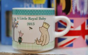 LONDON, ENGLAND - JULY 15:  A shop displays a mug celebrating the impending royal birth as the UK prepares for the birth of the first child of The Duke and Duchess of Cambridge at  on July 12, 2013 in London, England.  (Photo by Peter Macdiarmid/Getty Images)