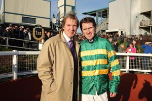 Northern Ireland Festival of Racing at Down Royal Racecourse - Day 1. Tony McCoy with Down Royal Manager Mike Todd