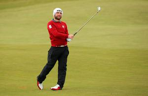 NEWCASTLE, NORTHERN IRELAND - MAY 30:  Andy Sullivan of England hits his 2nd shot on the 3rd hole during the Third Round of the Dubai Duty Free Irish Open Hosted by the Rory Foundation at Royal County Down Golf Club on May 30, 2015 in Newcastle, Northern Ireland.  (Photo by Andrew Redington/Getty Images)