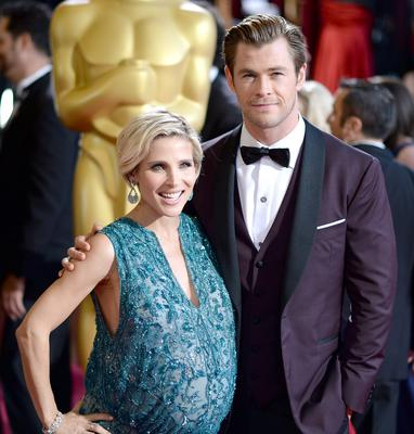 HOLLYWOOD, CA - MARCH 02:  Model Elsa Pataky and actor Chris Hemsworth attend the Oscars held at Hollywood & Highland Center on March 2, 2014 in Hollywood, California.  (Photo by Michael Buckner/Getty Images)