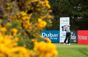 NEWCASTLE, NORTHERN IRELAND - MAY 29:  Padraig Harrington of Ireland tees off on the 15th hole during the Second Round of the Dubai Duty Free Irish Open Hosted by the Rory Foundation at Royal County Down Golf Club on May 29, 2015 in Newcastle, Northern Ireland.  (Photo by Andrew Redington/Getty Images)
