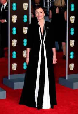 Kristin Scott Thomas attending the EE British Academy Film Awards held at the Royal Albert Hall, Kensington Gore, Kensington, London. PRESS ASSOCIATION Photo. Picture date: Sunday February 18, 2018. See PA Story SHOWBIZ Bafta. Photo credit should read: Yui Mok/PA Wire.