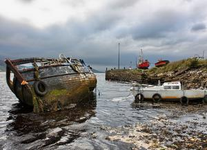 Trevor Denton From Crumlin took this at the harbour in  Buncrana. It will probably take more than a lick of paint to get this vessel shipshape again. Nov 2015