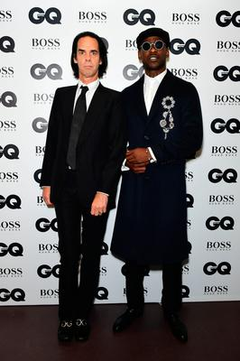 Nick Cave and Skepta during the GQ Men of the Year Awards 2017 held at the Tate Modern, London. PRESS ASSOCIATION Photo. Picture date: Tueday September 5th, 2017. Photo credit should read: Ian West/PA Wire