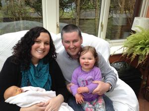 Baby regristrar pic. Ruth and Richard Faulkner are celebrating the birth of their son Harry. Also in the picture is their daughter Hannah