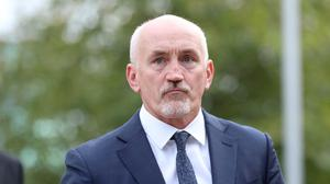 Barry McGuigan arrives at Belfast High court.  PICTURE BY STEPHEN DAVISON