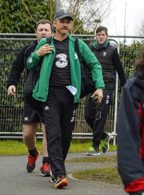 ?Russell Pritchard 5th March 2015 Ireland holding an open training session today  for the first time since the redevelopment of the Ground at Kingspan Stadium, Ravenhill Belfast today.  Ulsters new Director of Rugby and Head Coach, Les Kiss ?Russell Pritchard / Presseye