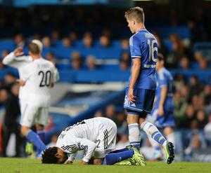 LONDON, ENGLAND - SEPTEMBER 18:  Mohamed Salah of FC Basel celebrates scoring their first goal during the UEFA Champions League Group E Match between Chelsea and FC Basel at Stamford Bridge on September 18, 2013 in London, England.  (Photo by Ian Walton/Getty Images)