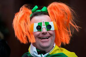 People at the Mayor of London's St Patrick's Day Parade and Festival in London. Daniel Leal-Olivas/PA Wire