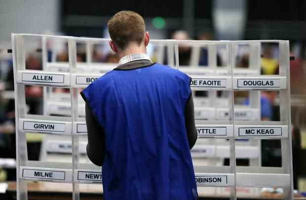 Press Eye - Belfast - Northern Ireland - 3 March 2017  NI Assembly Election 2017 Count at Titanic Exhibition Centre in Belfast for Belfast East,  Belfast North, Belfast South and Belfast West constituencies.    Photo by Jonathan Porter / Press Eye.