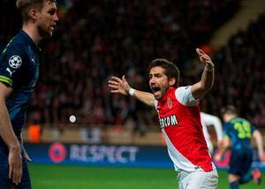 Monaco's Portuguese midfielder Joao Moutinho reacts during the UEFA Champions League football match Monaco vs Arsenal, on March 17, 2015 at Louis II stadium in Monaco. AFP PHOTO / BERTRAND LANGLOISBERTRAND LANGLOIS/AFP/Getty Images