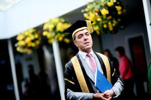 Actor James Nesbitt at the Graduation ceremony at Ulster University, Coleraine . Pic By Paul Moane/ Aurora PA