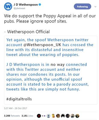 The real Wetherspoon account