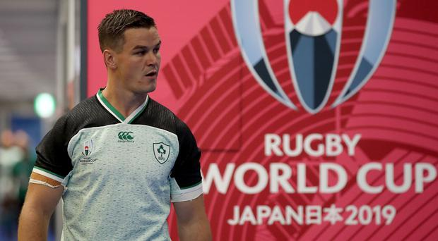 Ireland's Johnny Sexton could sit out his side's second pool match on Saturday.