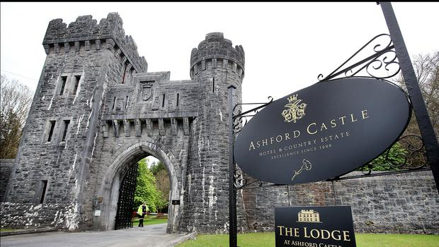 The gates of Ashford Castle. Pic Steve Humphreys