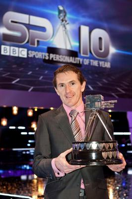 BIRMINGHAM, ENGLAND - DECEMBER 19:  (NO SALES/NO ARCHIVE)  In this handout image provided by the BBC, Tony McCoy poses with the 2010 BBC Sports Personality of the Year Award at the LG Arena on December 19, 2010 in Birmingham, England.  (Photo by Guy Levy/BBC via Getty Images)  WARNING:  Use of this copyright image is subject to the terms of use of BBC Pictures' BBC Digital Picture Service.  In particular, this image may only be published in print for editorial use during the publicity period (the weeks immediately leading up to and including the transmission week of the relevant programme or event and three review weeks following) for the purpose of publicising the programme, person or service pictured and provided the BBC and the copyright holder in the caption are credited.  Any use of this image on the internet and other online communication services will require a separate prior agreement with BBC Pictures.  For any other purpose whatsoever, including advertising and commercial prior written approval from the copyright holder will be required.