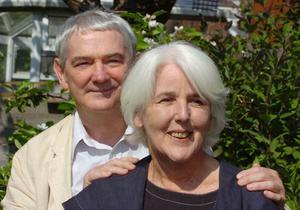 Colin Carnegie and his late wife Roma Tomelty. (Picture by Ian Trevithick)
