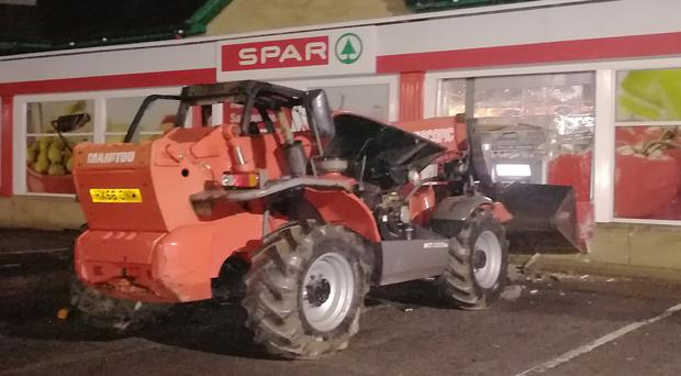 Detectives investigating an attempted ATM theft in Omagh