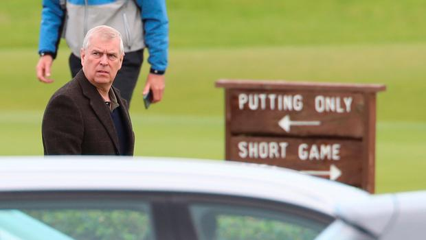 The Duke of York attends The Duke of York Young Champions Trophy at the Royal Portrush Golf Club in County Antrim. PA Photo. Picture date: Monday September 9, 2019. See PA story ROYAL Andrew. Photo credit should read: Liam McBurney/PA Wire