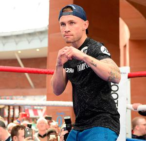 Burning ambition: Carl Frampton says he wants be remembered as a boxing great